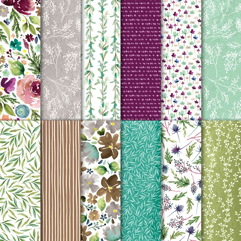 "Frosted Floral 12"" x 12"" (30.5 x 30.5 cm) Specialty Designer Series Paper"