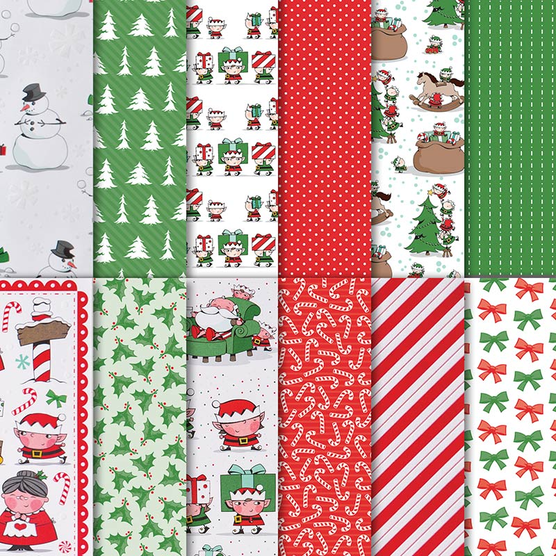 "Santa's Workshop 12"" x 12"" (30.5 x 30.5 cm) Specialty Designer Series Paper"