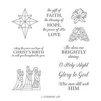 Jeu de timbres de Noël transparents illuminés