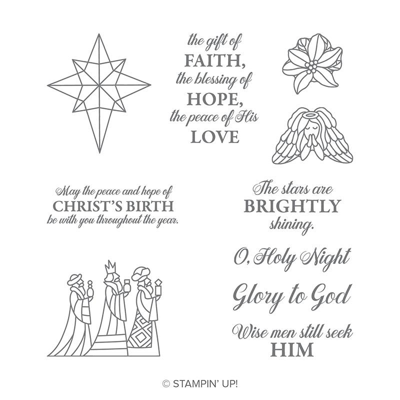 Illuminated Christmas Wood-Mount Stamp Set
