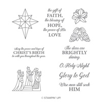 Illuminated Christmas Wood-Mount Stamp Set