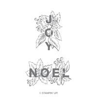 Joy & Noel Wood-Mount Stamp Set