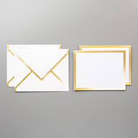 Gold Foil-Edged Cards & Envelopes