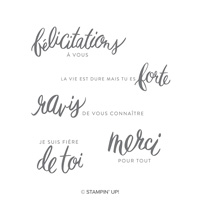 Expressions amicales Clear-Mount Stamp Set (French)