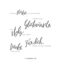 Liebevolle Worte Clear-Mount Stamp Set (German)