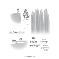 Genieß den Augenblick Clear-Mount Stamp Set (German) GENIESS DEN AUGENBLICK