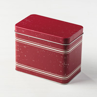 Red Distressed Card Tin