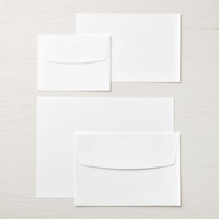 white cards and envelopes