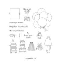 Persönlich überbracht Photopolymer Stamp Set (German)