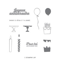 Souffle tes bougies Photopolymer Stamp Set (French)
