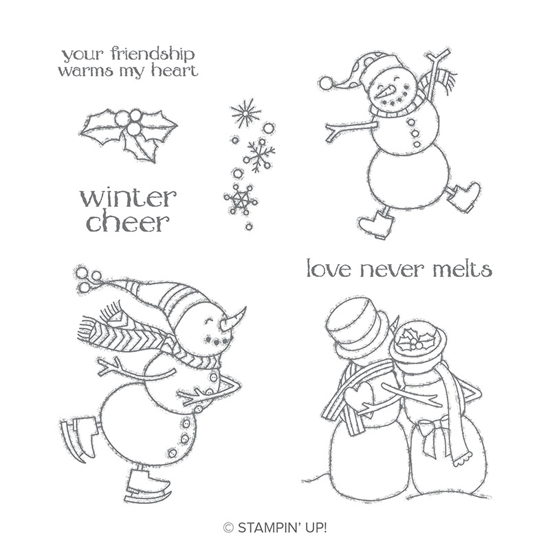 Spirited Snowmen Wood-Mount Stamp Set