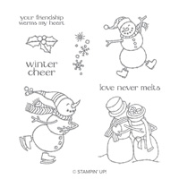 Spirited Snowmen Wood-Mount Stamp Set