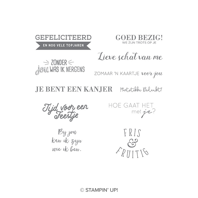 Beste vrienden Year Clear-Mount Stamp Set (Dutch)