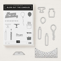 candle and balloon stamp bundle