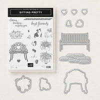 chair and heart stamps