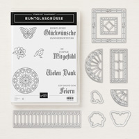 Buntglasgrüße Clear-Mount Bundle (German) BUNTGLASGRÜSSE