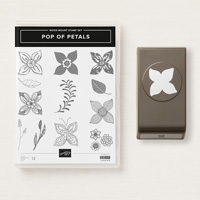 floral stamps and punch set