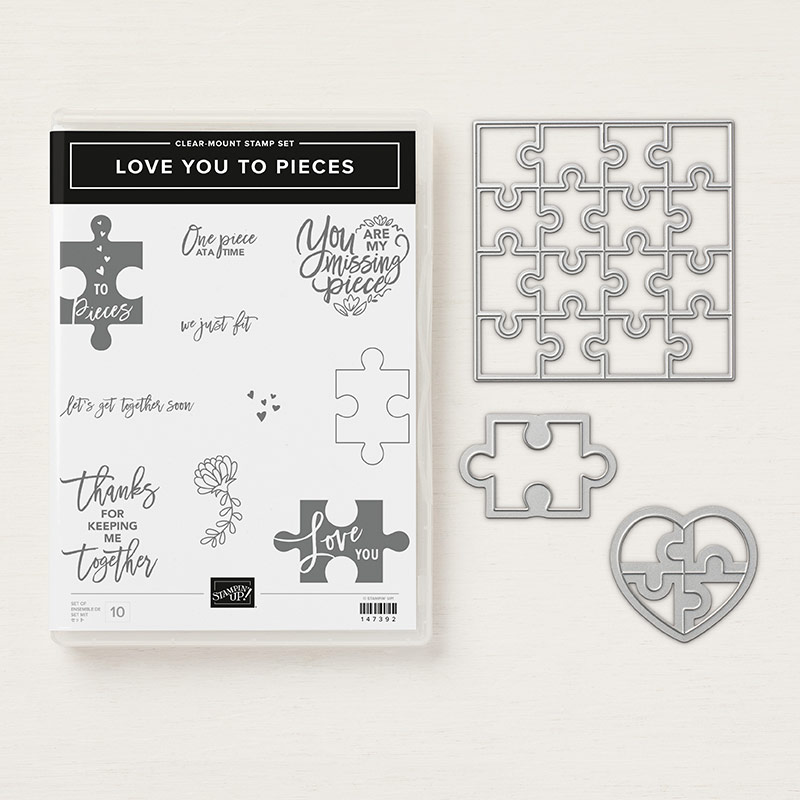 Love You to Pieces Clear-Mount Bundle