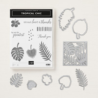 tropical leaf stamps