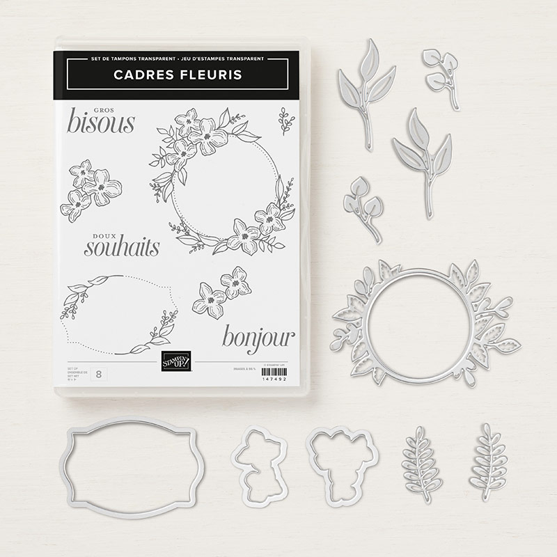 Cadres fleuris Clear-Mount Bundle (French)