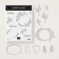 Cadres fleuris Clear-Mount Bundle (French)