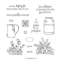 Maison de campagne Photopolymer Stamp Set (French)