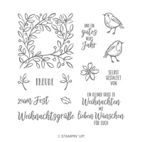 Gefiederte Weihnachten Photopolymer Stamp Set (German)