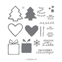 SüßE Adventsgrüße Photopolymer Stamp Set (German)