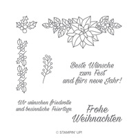 Wunderbarer Weihnachtsstern Clear-Mount Stamp Set (German)