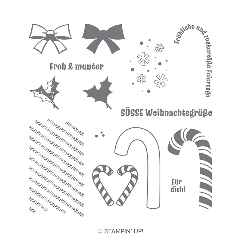 Zuckersüße Weihnachten Photopolymer Stamp Set (German)