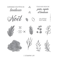 Noël paisible Photopolymer Stamp Set (French)