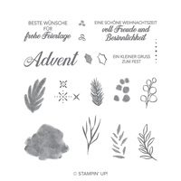 Besinnlicher Advent Photopolymer Stamp Set (German)