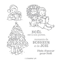 Bonheur et joie Clear-Mount Stamp Set (French)