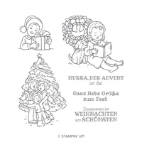 Adventsfreuden Clear-Mount Stamp Set (German)