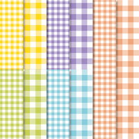 multi-color plaid gingham paper