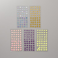 gingham sequin stickers