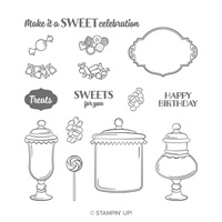 sweets celebration stamps