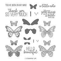 joyful butterfly stamp set