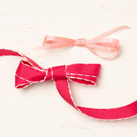valentine pink and red ribbon