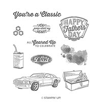 father's day classic car stamp set