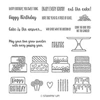 Piece Of Cake Photopolymer Stamp Set