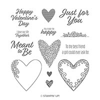 Meant To Be Cling Stamp Set