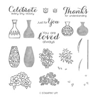 flower and vase stamps