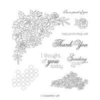 Climbing Roses Cling Stamp Set