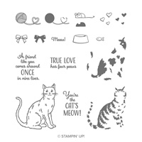 cat themed stamp set