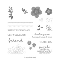 flower embroidery stamp set