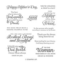 Strong & Beautiful Cling Stamp Set