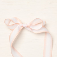 pink & white 5/8 ribbon