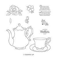 Tea Together Cling Stamp Set
