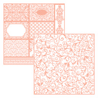 rose pink and white laser-cut paper